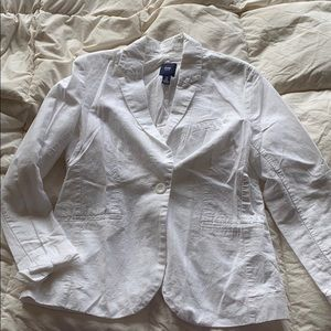 Gap blazer/white. 8. EUC.